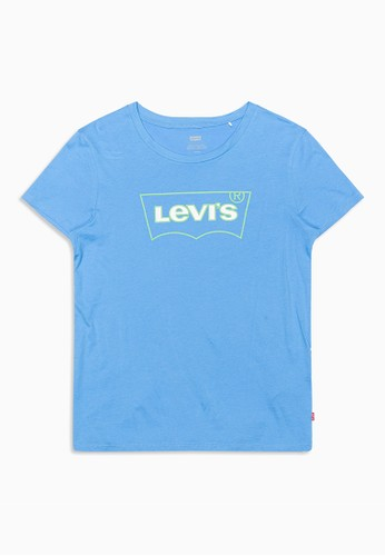 Levi's blue Levi's The Perfect Tee Bw Outline Marina (17369-0955) BED42AA206891DGS_1