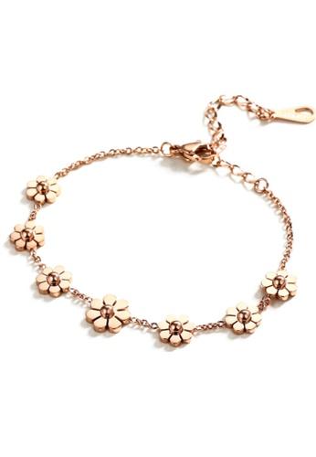 CELOVIS gold CELOVIS - Sophie Floral Bracelet in Rose Gold E490BAC8BAE217GS_1
