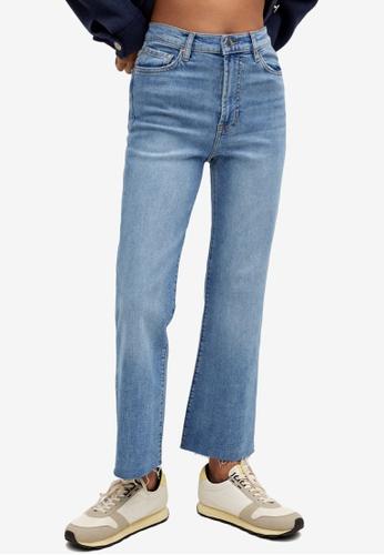 Mango blue Crop Flared Jeans C7E75AA6D8BA4CGS_1