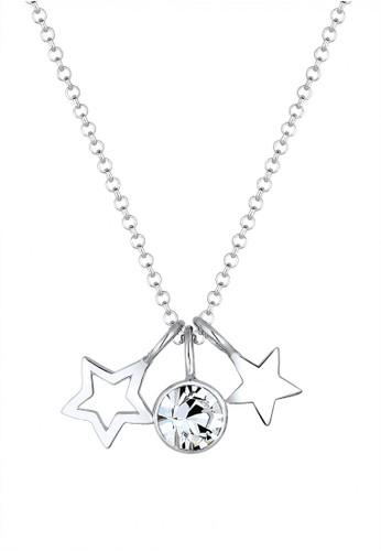 Elli Germany silver 925 Sterling Silver kalung Bintang Swarovski® Crystal Silver 7BFECACFEFC120GS_1