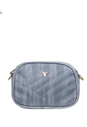 Verchini blue Verchini Quilted Patent Crossbody Bag A8136AC21E4C32GS_1
