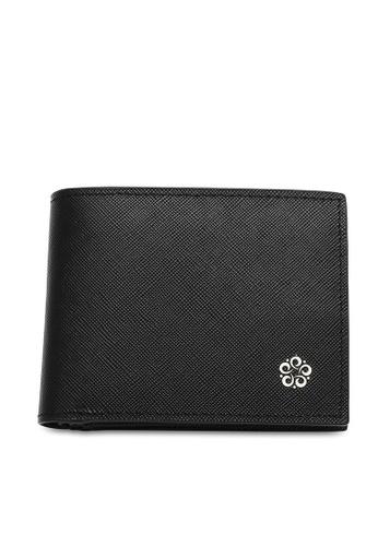 Wild Channel black Men's Genuine Leather RFID Blocking Bi Fold Wallet 15496AC307D3E2GS_1