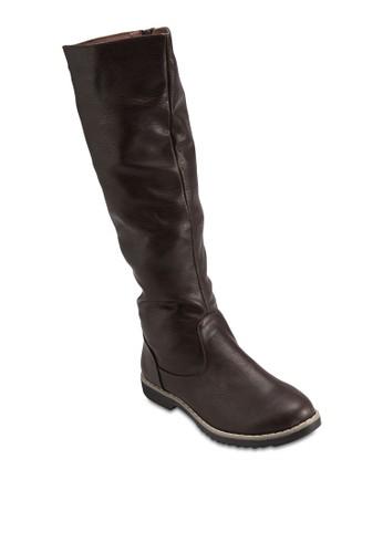 鞋背繫帶高筒靴esprit地址, 女鞋, 靴子