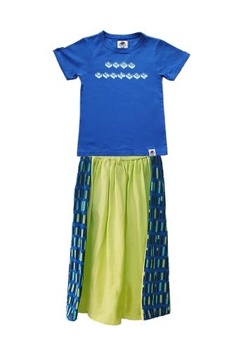 Roses & Rhinos multi Game Changer T-Shirt and Eve Maxi Skirt Set AC674KA012E11BGS_1