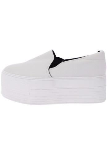Maxstar C7 60 Synthetic Cotton White Platform Slip on Sneakers US Women Size MA168SH17DKGHK_1