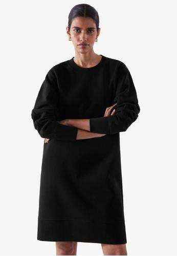 COS black Relaxed Sweatshirt Dress 2281AAA9C898E9GS_1
