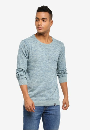 Indicode Jeans blue Arjun Knitted Melange Sweater ACCB7AADFB73F3GS_1