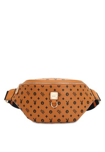 PLAYBOY BUNNY brown Women's Waist Bag / Waist Pouch / Belt Bag 22311ACF27BFECGS_1