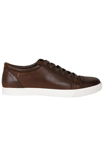 Tomaz red Tomaz C268 Leather Cap-toe Sneakers (Wine) 614FCSH013479CGS_1