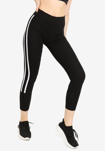 Trendyol black Side Stripes Detailed Sports Leggings F68A8AA0493451GS_1