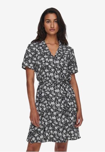 JACQUELINE DE YONG black Isaak Short Sleeves Shirt Dress 1C7E8AA75BADB8GS_1
