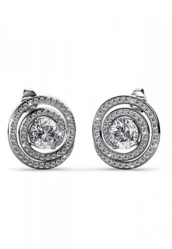 Her Jewellery silver Her Jewellery Mystiq Earrings with 18K Gold Plated 3AECBAC4F188E8GS_1