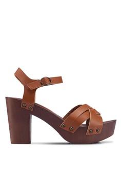 8c65059b80 Dorothy Perkins brown Tan Sequoia 70S Clog Heels 605E2SH2F5C124GS_1