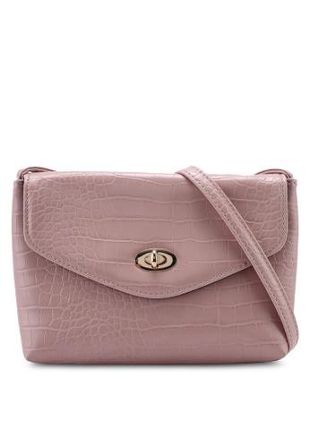 f662f0377e1 Dorothy Perkins pink Blush Croc Twist Lock Crossbody Bag B01BBACD3FEE8BGS_1