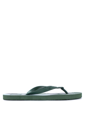 BENCH green Printed Rubber Slippers BE550SH92MBVPH_1