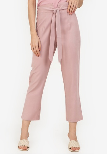 ZALORA WORK pink Notch Detail Pants B40C1AA76DE2C9GS_1