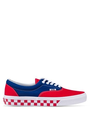 VANS red and blue Era BMX Checkerboard Sneakers 26832SH514BB69GS_1