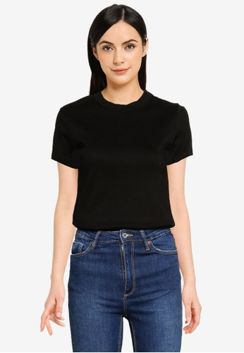 UniqTee black Soft Cotton Relaxed Fit Crew Neck Tee CFFE6AABBA445AGS_1