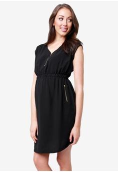 e9fc4262f1 Ripe Maternity black Maternity Belle Nursing Tunic Dress 20C23AAC48D180GS 1