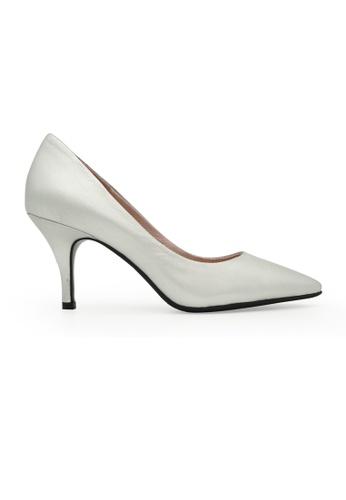 Gripz silver Avery Pointed Toe Metallic Mid Heels D7DA4SH14E1053GS_1