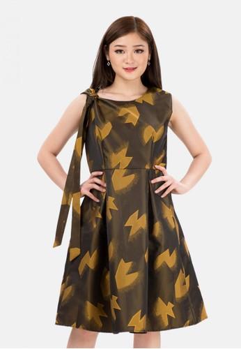 The Pink Label yellow Mix Pattern Mini Dress in Yellow 74584AA1FB84F7GS_1