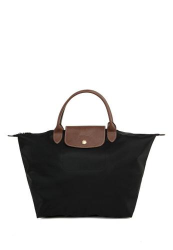 LONGCHAMP black Le Pliage Medium Handbag C8B5CACEF43727GS_1