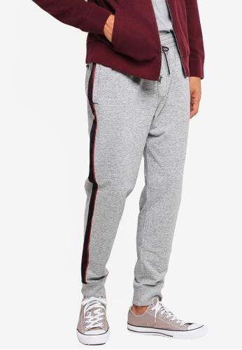 Abercrombie & Fitch grey Stripe Sweatpants 0A7F2AA6E19C25GS_1