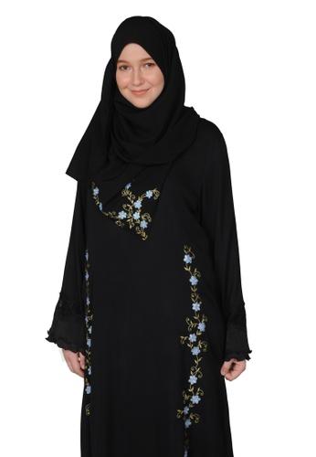 Bait Al Hijaab black ONE-OF-A-KIND EMBROIDERED ABAYA 34B99AA564ACB5GS_1