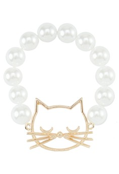 Meow Bracelet With Pearls