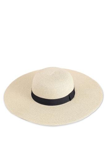Call It Spring white Burkei Floppy Straw Hat 5F290AC7618083GS_1