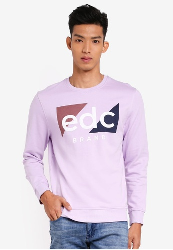 ESPRIT 紫色 長袖棉T AA784AAC87934AGS_1