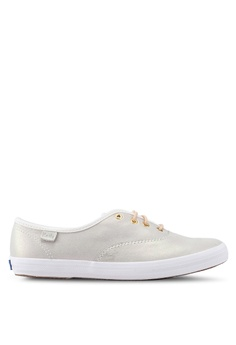 a94a4844083 Keds white Champion Iridescent Leather Sneakers 70682SH0E03371GS 1