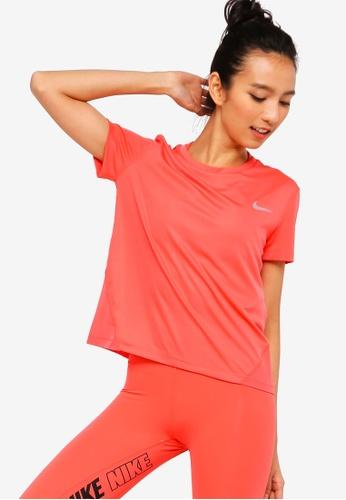 brand new 5e677 51b25 Buy Nike Women s Nike Miler Short Sleeves Running Top Online on ZALORA  Singapore