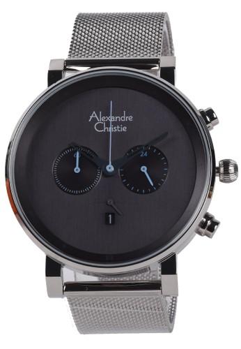 Alexandre Christie black Alexandre Christie - Jam Tangan Pria - Silver - Stainless Steel Bracelet - 6547MCBSSGR DAEF4ACA42EFADGS_1