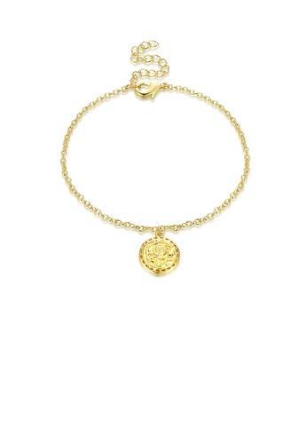 Glamorousky silver Fashion Simple Plated Gold Disc Hollow Bracelet 9EAEEACB02AA5BGS_1