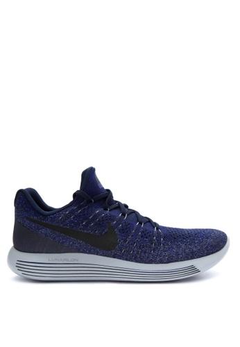 Nike blue Men's Nike Lunarepic Low Flyknit 2 Running Shoes NI126SH0JNQJPH_1