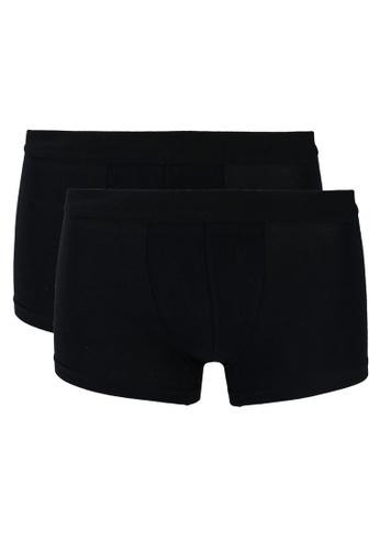 MANGO Man black Basic Trunks 2-Pack A5939USBADCB3EGS_1