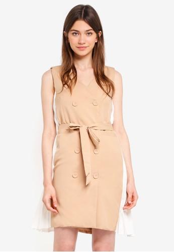 Megane beige Theola Dress 05D61AA6B2BC2AGS_1