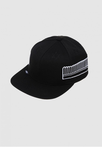 M-Wanted black M. HVPE Spread Your Wings Snapback Cap MW173AC10RNXSG_1
