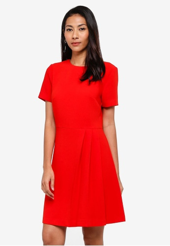 WAREHOUSE red Crepe Kilt Dress 884EAAA06A1C43GS_1