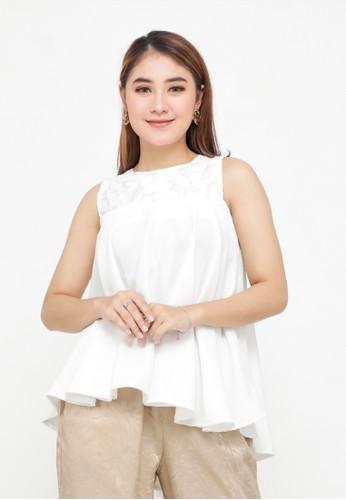 Cleody white Misha Top - White - Atasan Wanita - Blouse - Cleody Indonesia A9527AADF0EC67GS_1