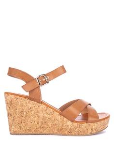 904943bc46 Primadonna brown Ankle Strap Wedge Sandals 4D767SH035738DGS_1