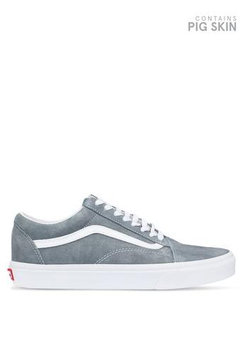 VANS grey Old Skool Pig Suede Sneakers FFBC1SH886E80CGS_1