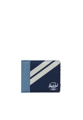 Herschel blue and multi Herschel Unisex Roy Wallet Peacoat/Blue Mirage/Pelican 2E393AC9C7B296GS_1