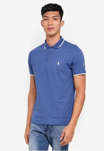 Burton Menswear London blue Blue Prostate Cancer Uk Polo Shirt 890F8AADC4AF6FGS_1