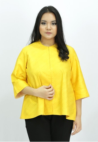 House of Kain yellow Blouse Batik Sutra DEAD9AAA9DCD5BGS_1