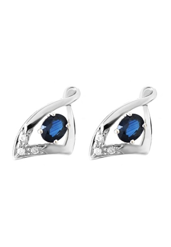 GOLDHEART gold GOLDHEART Earrings, Sapphire Diamond White Gold 750 (E306) 9AF8AACE489517GS_1