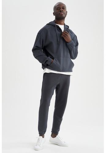 DeFacto grey Long Sleeve Hoodie BD152AA3AD0367GS_1