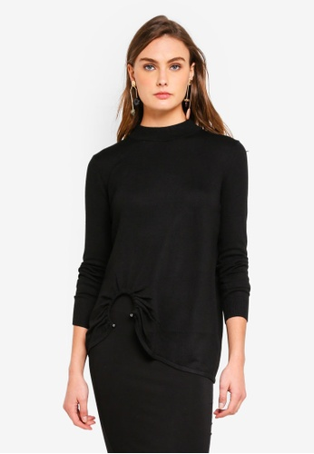 River Island black Rosie Ring Top DFCF9AA2ABA054GS_1