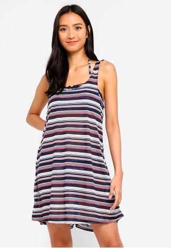 OVS blue and multi Knots Shoulder Mini Dress F7222AA422BCE9GS_1